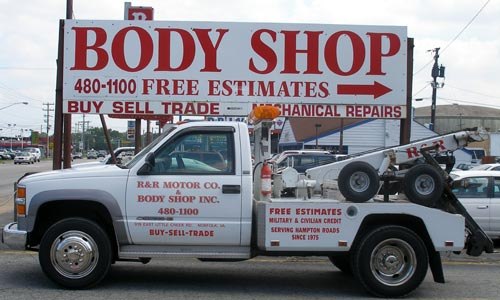 R & R Motor Co. & Body Shop, Inc, 24 hour Towing